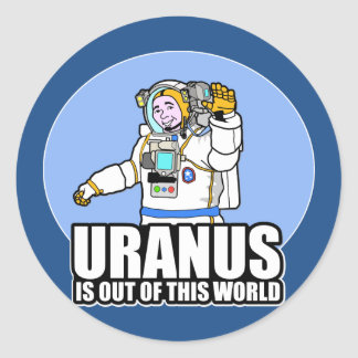 Uranus is Out of This World Classic Round Sticker