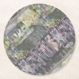 urban art graffiti party supply round paper coaster