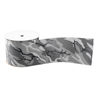 Urban Camo Grosgrain Ribbon
