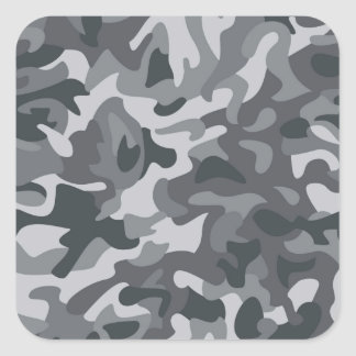 Urban Camo Pattern Square Sticker