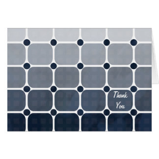 Urban Chic Thank You Notecard - Prussian Blue Note Card