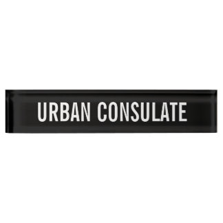 Urban Consulate Nameplate