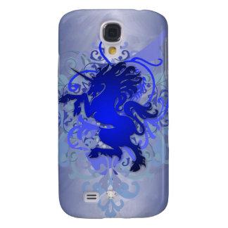 Urban Fantasy Bright Blue Faux Jewel Unicorn 3g Galaxy S4 Case