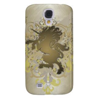 Urban Fantasy Gold Faux Jewel Unicorn 3g  Galaxy S4 Case