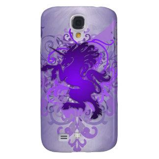 Urban Fantasy Purple Faux Jewel Unicorn 3g  Galaxy S4 Case