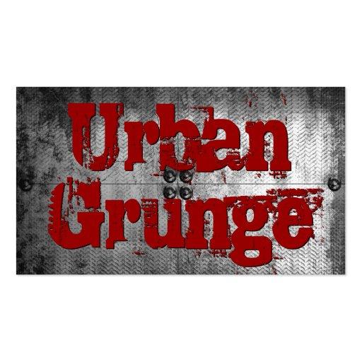 Urban Grunge Metal Look Business Cards