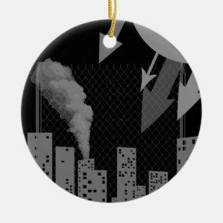 urban industrial christmas ornament
