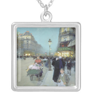 Urban Landscape Silver Plated Necklace