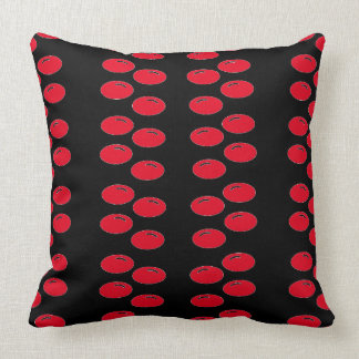 Urban Modern Pop Art Black Red CricketDiane Cushion