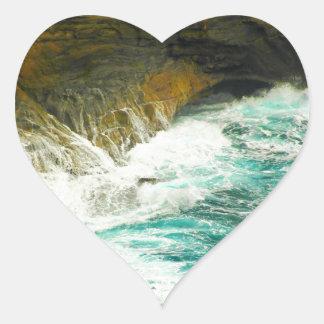 Urban Ocean Heart Sticker