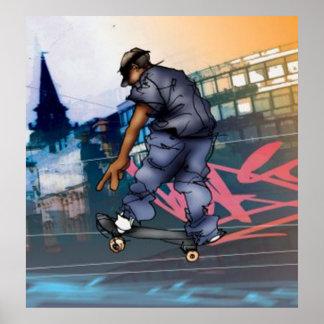 Urban Skateboarder Poster