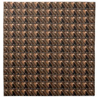 Urbane Circles Geometric Brown Black Napkins
