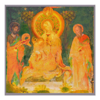 Urbino Life of John the Baptist by Salimbeni Poster