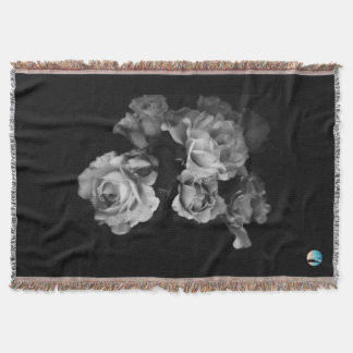 UrbnCape B&W Flower Throw