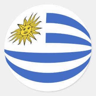 Uruguay Fisheye Flag Sticker