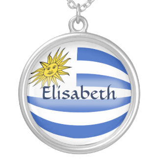 Uruguay Flag + Name Necklace