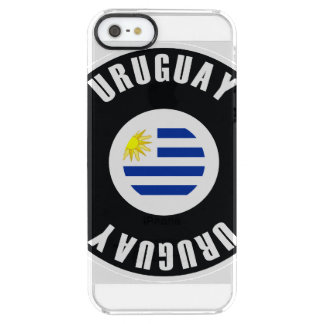 Uruguay Flag Simple Clear iPhone SE/5/5s Case