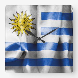 Uruguay Flag Square Wall Clock