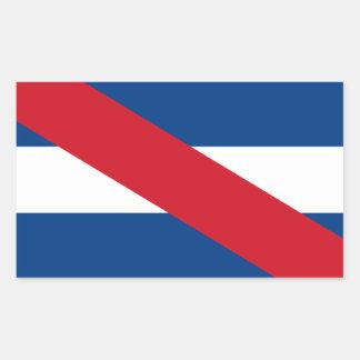 Uruguay/Uruguayan Artigas Flag Rectangular Sticker