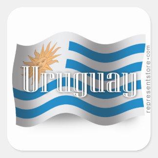 Uruguay Waving Flag Square Sticker