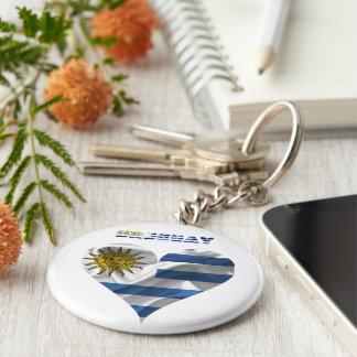 Uruguayan flag key ring