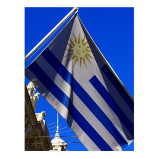 uruguayan flag postcard