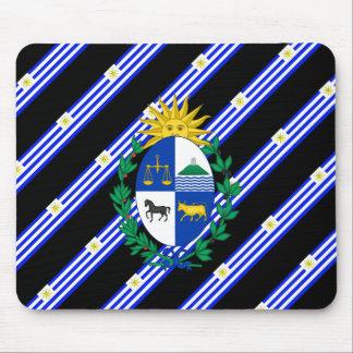 Uruguayan stripes flag mouse pad