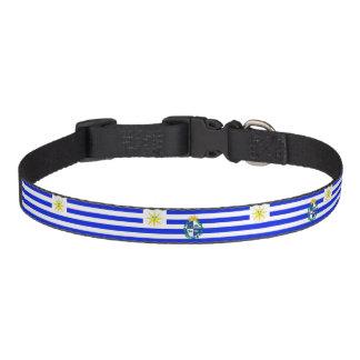 Uruguayan stripes flag pet collar