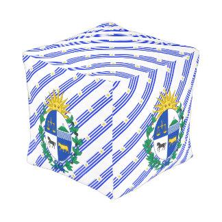 Uruguayan stripes flag pouf