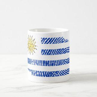 Uruguayan touch fingerprint flag coffee mug