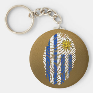 Uruguayan touch fingerprint flag key ring
