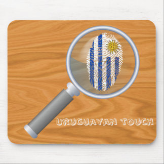 Uruguayan touch fingerprint flag mouse pad