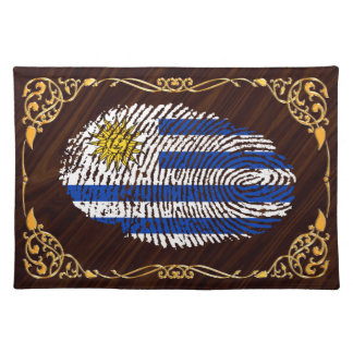 Uruguayan touch fingerprint flag placemat