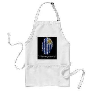 Uruguayan touch fingerprint flag standard apron