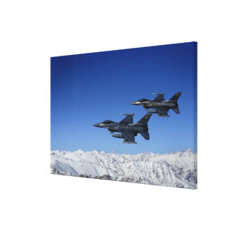 US Air Force F-16 Fighting Falcons Canvas Print