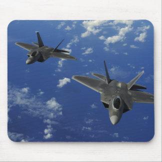 US Air Force F-22 Raptors in flight near Guam Mouse Pad