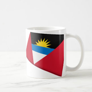 US & Antigua and Barbuda Flags Coffee Mug