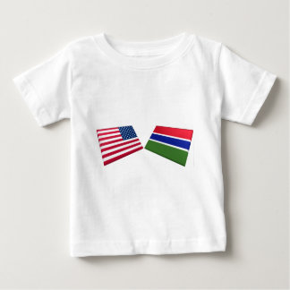 US & Gambia Flags Baby T-Shirt