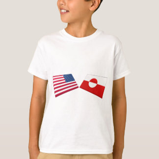 US & Greenland Flags T-Shirt