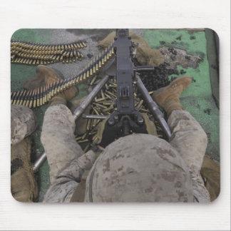 US Marine fires an M2 50-caliber machine gun Mouse Pad