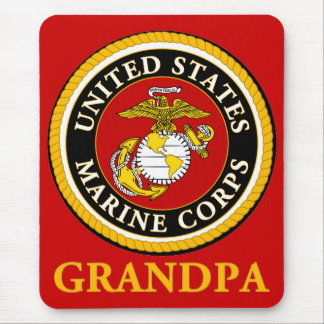 US Marine Official Seal - Grandpa Mouse Pad