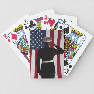 Us Marine USA flag Bicycle Playing Cards