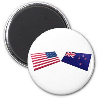 US & New Zealand Flags Magnets