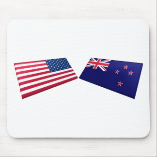 US New Zealand Flags Mouse Pads