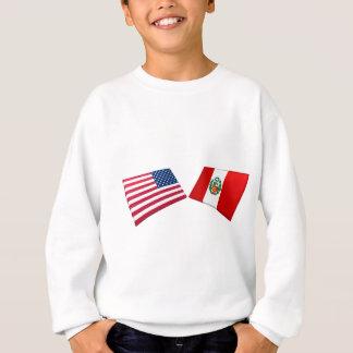 US & Peru Flags Sweatshirt
