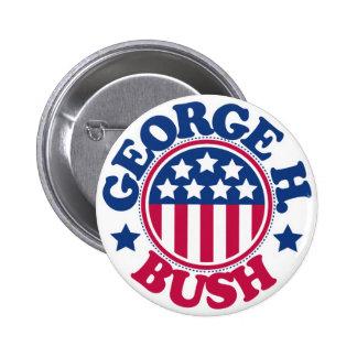 US President George H Bush 6 Cm Round Badge
