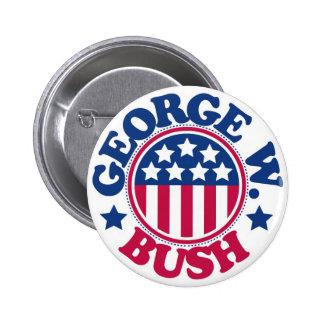 US President George W Bush 6 Cm Round Badge
