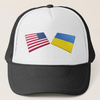US & Ukraine Flags Trucker Hat
