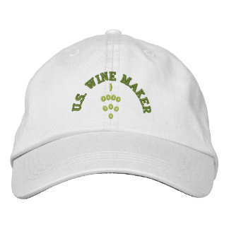 US WINE MAKER EMBROIDERED BASEBALL CAPS