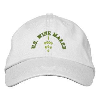 US WINE MAKER EMBROIDERED BASEBALL CAPS